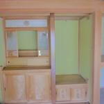 和室8帖にはきれいな仏壇置場があります。