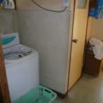 脱衣所と洗濯機置場